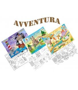 Tovagliette Avventura 3 - Pirati - Castello - Dinosauri